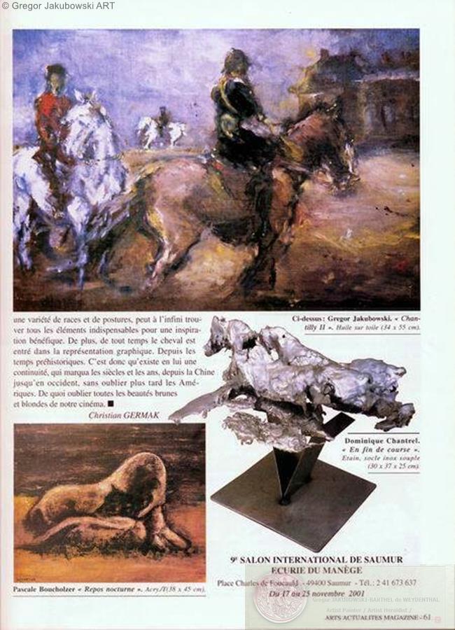 G.Jakubowski & L.Tomaszewski Arts Actualites, 2001