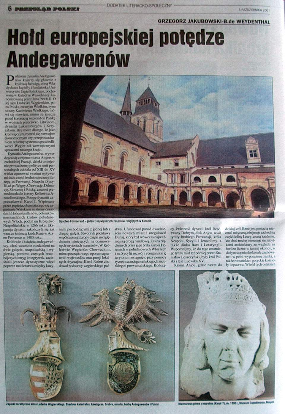 GJ ARTICLES : The Anjou Dynasty in the Fontevraud Abbey