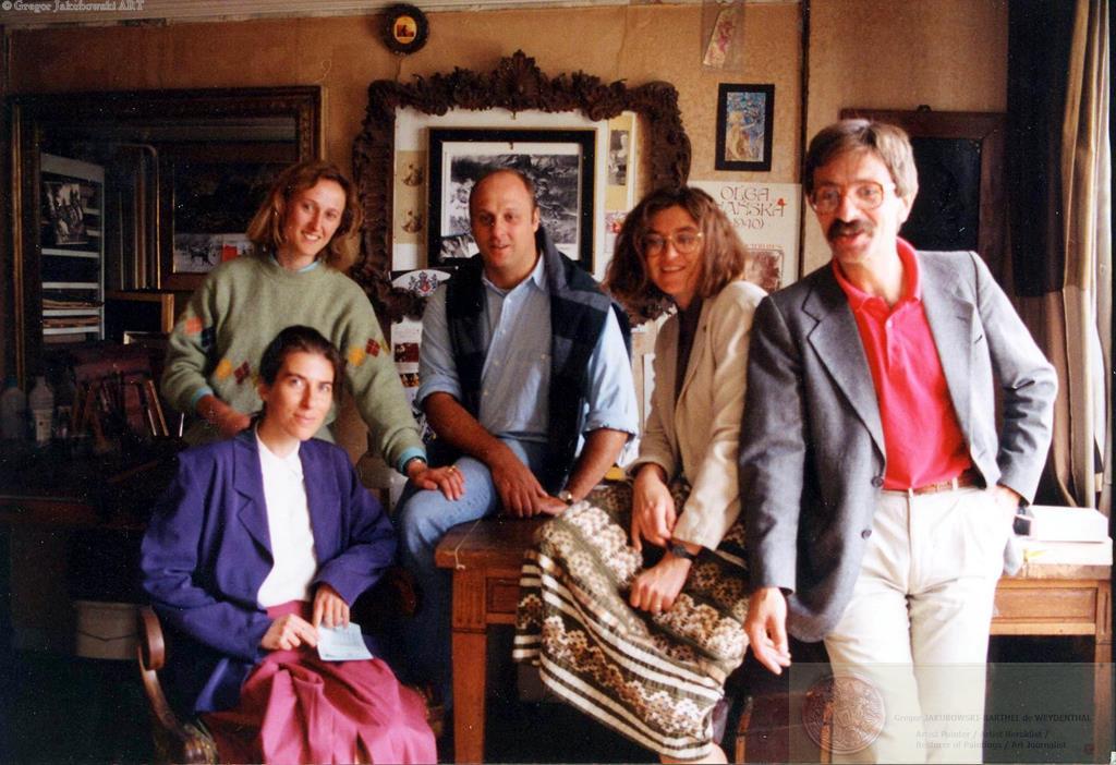 Ewa,Grzegorz Jakubowski + Valerie, Guy, Odile Biblioteka Polska w Paryzu