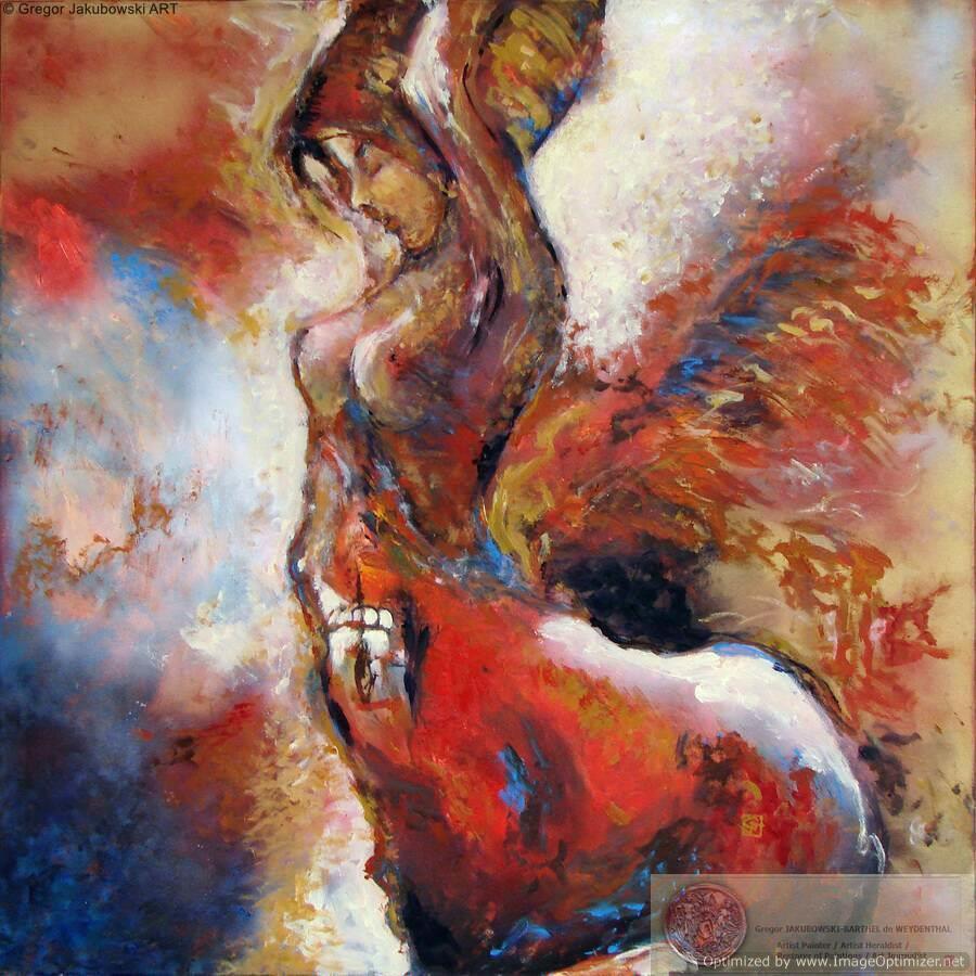 Gregor Jakubowski, Centauresse, 100x100 cxm