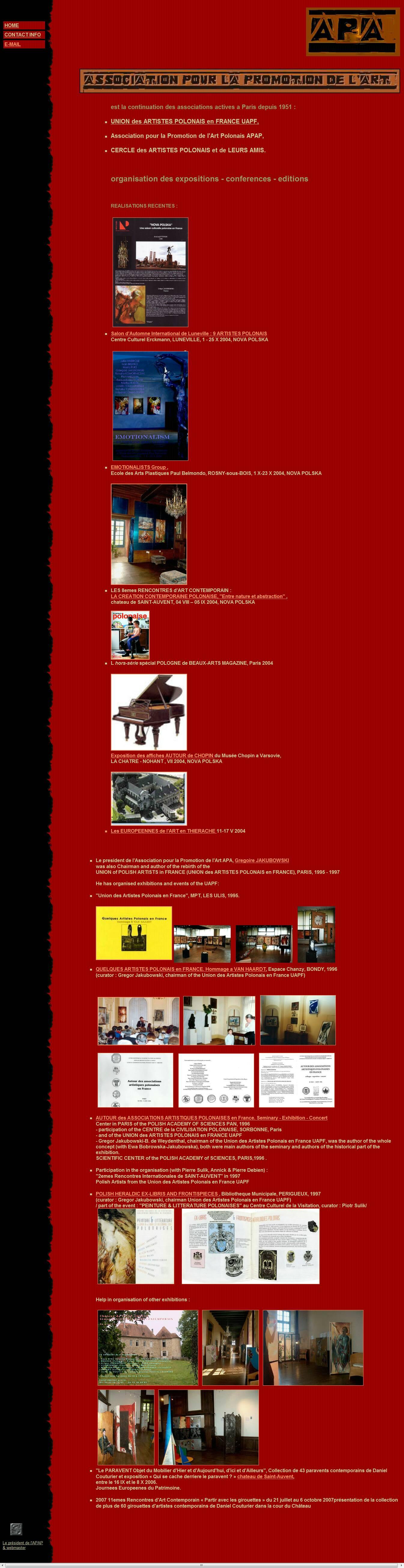 ASSOCIATION POUR LA PROMOTION des ARTS website