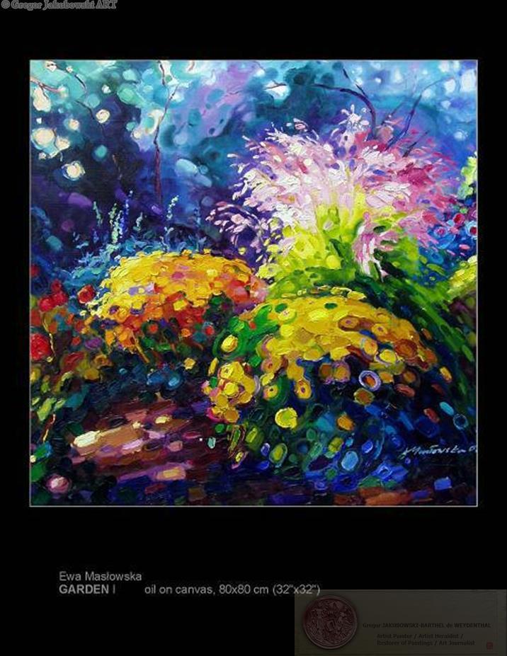 Ewa Maslowska GARDENS Paintings
