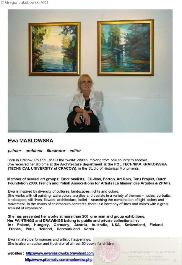 YIN & YANG, Ewa MASLOWSKA & Gregor JAKUBOWSKI, oil paintings, September 29 to October 10, 2009