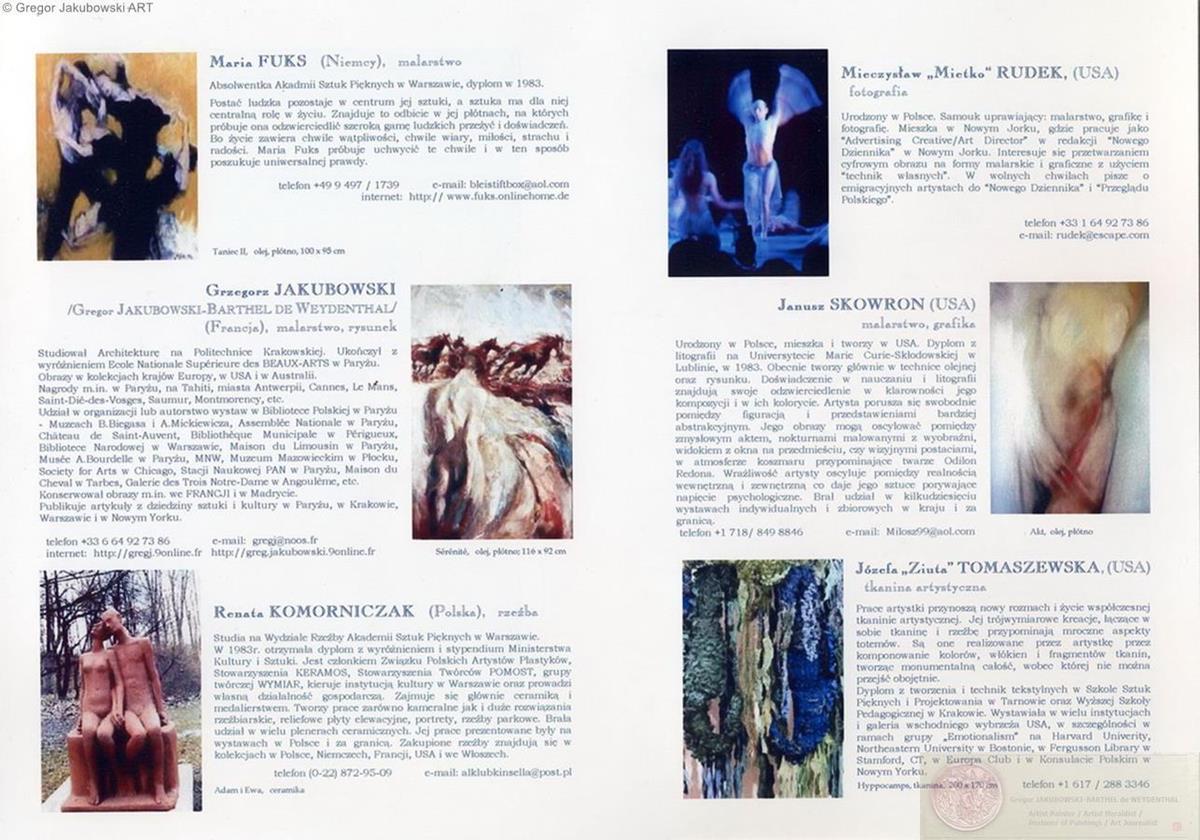 POLISH-AMERICAN ART & EMOTIONS, Emocjonalisci. W zgodzie z natura