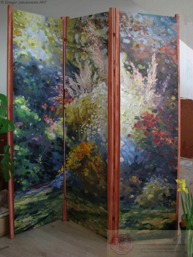 Ewa Maslowska, paravent: Le Jardin