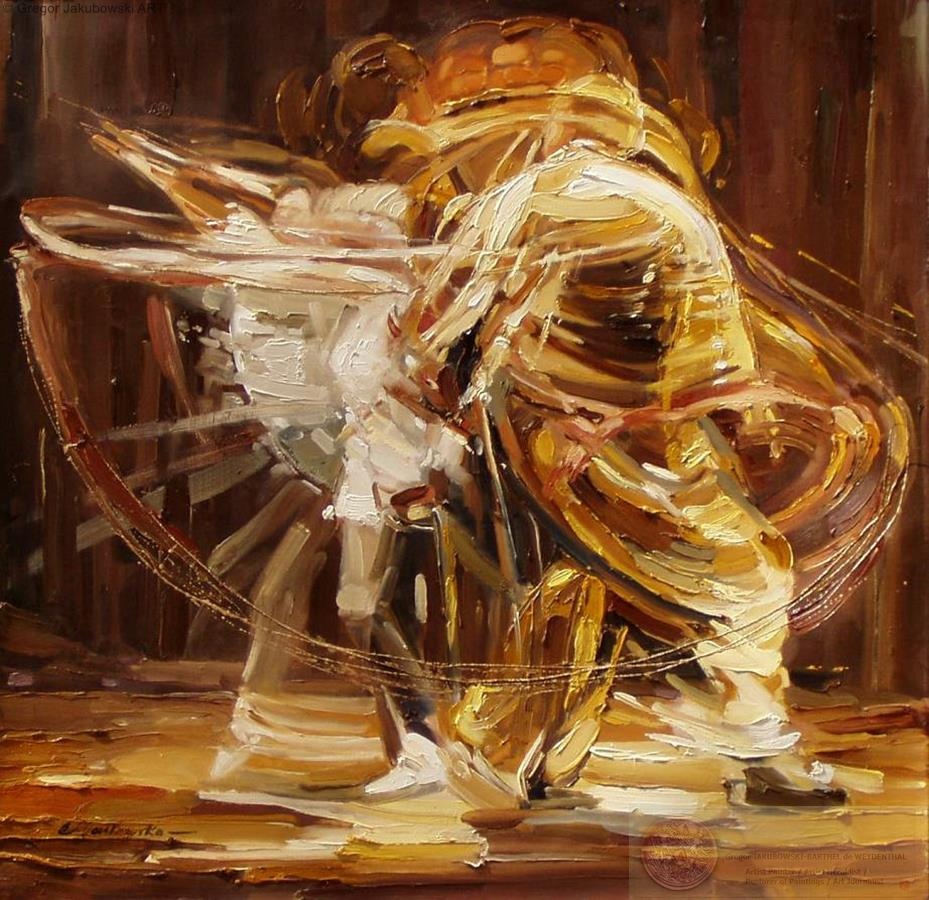 Ewa_Maslowska_Finnish Ballet --32x32-inch-oil