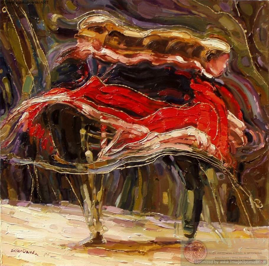 Ewa_Maslowska_Finnish Ballet -32x32-inch-oil