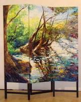 Ewa_Maslowska, paravent Farum Lake, 150x180 cm