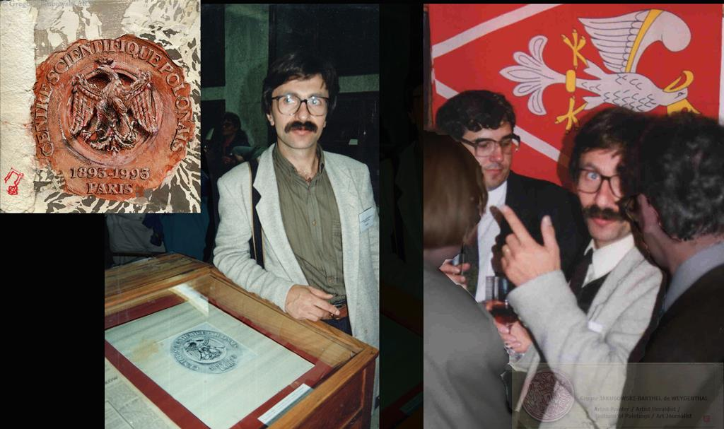 Orzel Bialy, Wystawa: -Orly Nasze-, Biblioteka Jagiellonska, Krakow, 1995