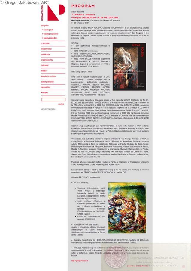 Gregor Jakubowski Des dragons et des hommes, 2004