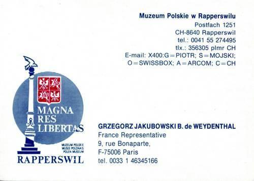 GJ Muzeum Polskie - Polenmuseum, Rapperswil