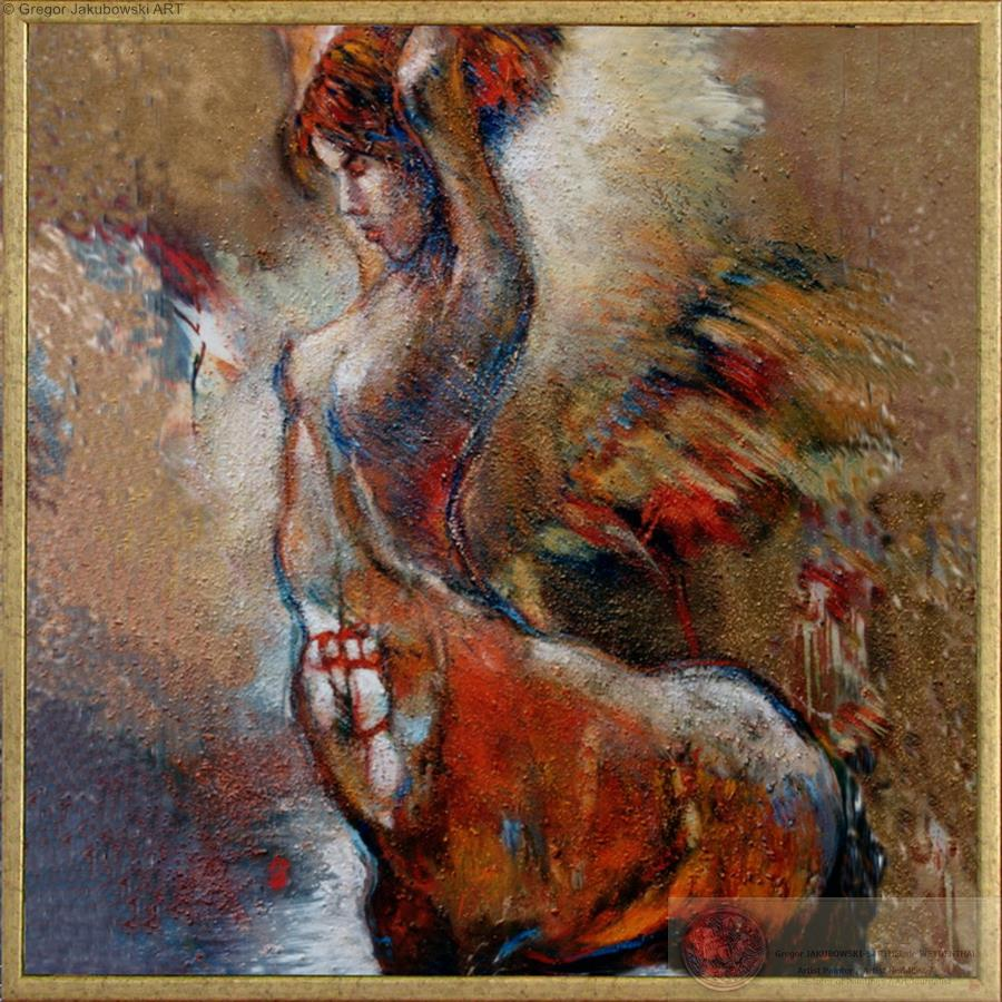 Gregor Jakubowski, Centauresse, 100x100 cm