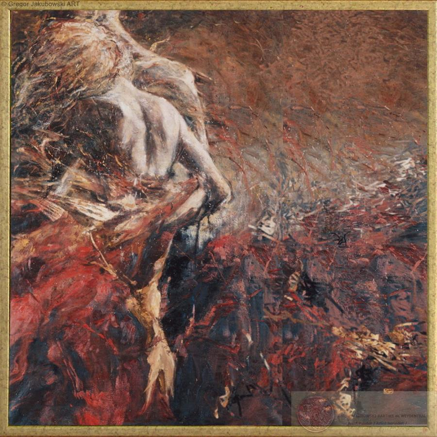 Gregor Jakubowski, FIN DE L'EDEN, 100x100 cm
