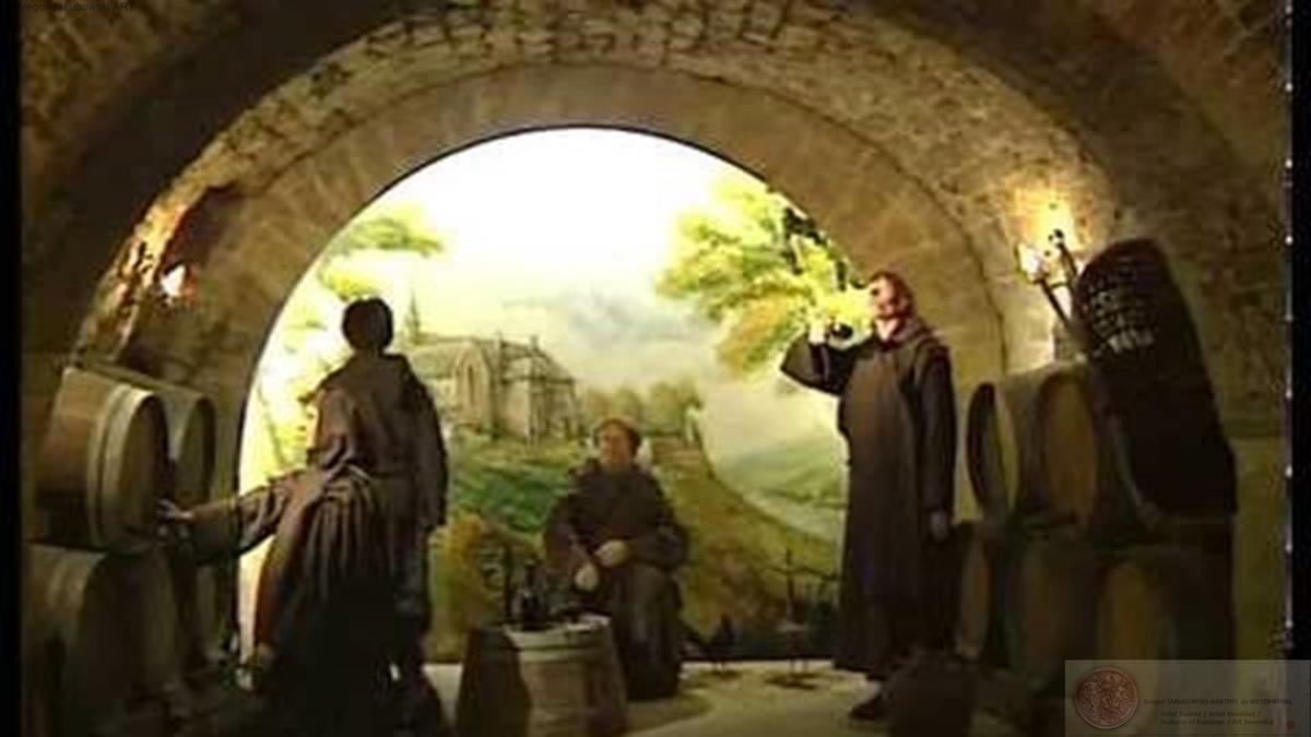 ABBAYE DE PASSY, MUSEE du VIN (WINE MUSEUM), oil on canvas, 460x350 cm PARIS