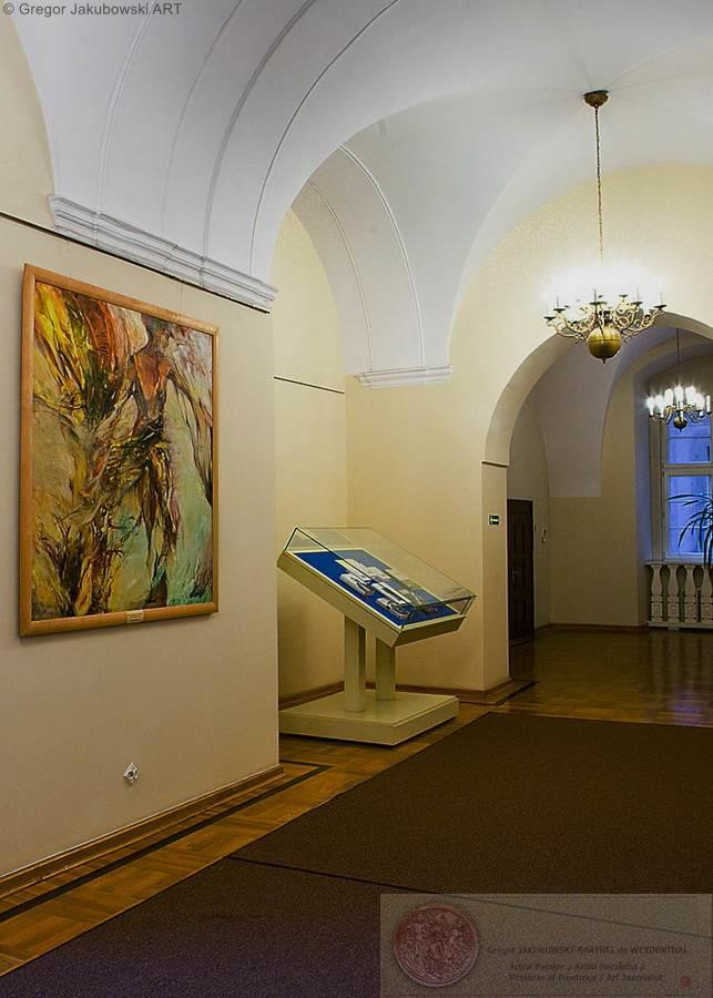 Rencontres II , oil/canvas 150x150cm 1990 collection Zaklad Narodowy im. Ossolinskich, Wroclaw, Poland