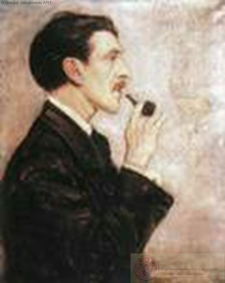Vlastimil Hofman - Makowski, Painting restored by G.J.