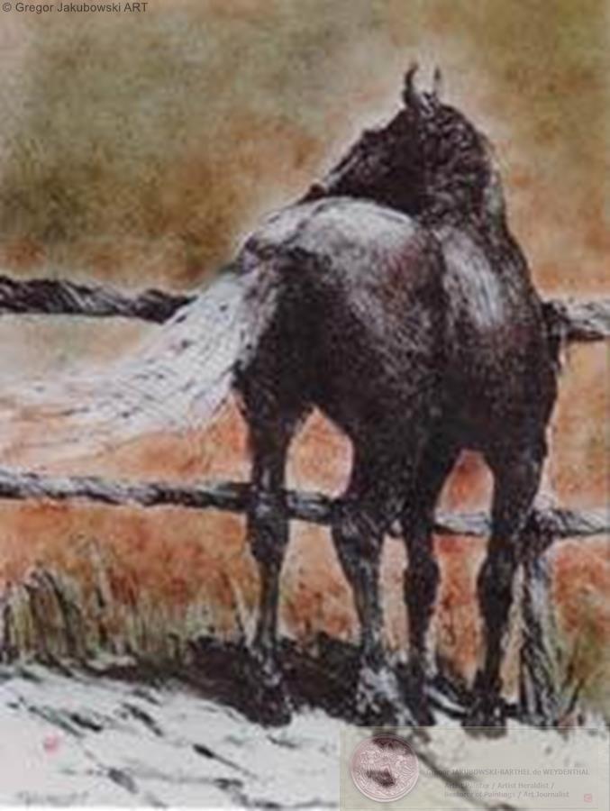 Horse Turning left
