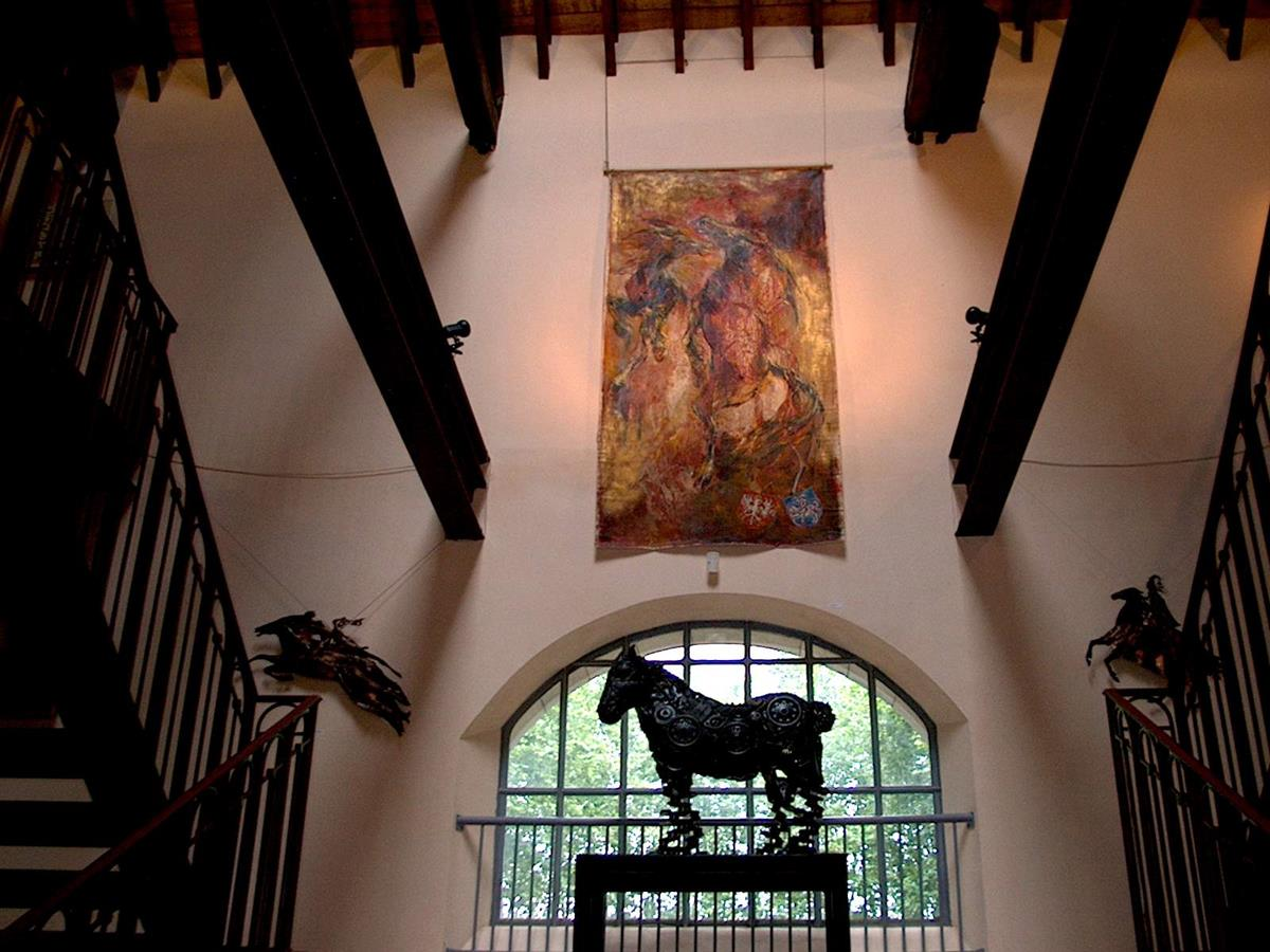 ELAN, oil on canvas, 300 x 148 cm (118 x 58 ), Maison du Cheval, Tarbes, Pyrenees