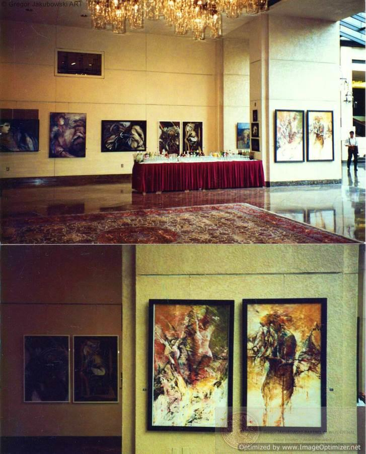 PAINTINGS by Gregor Jakubowski, WASHINGTON - IMF International Monetary Fund, French Figuration Art