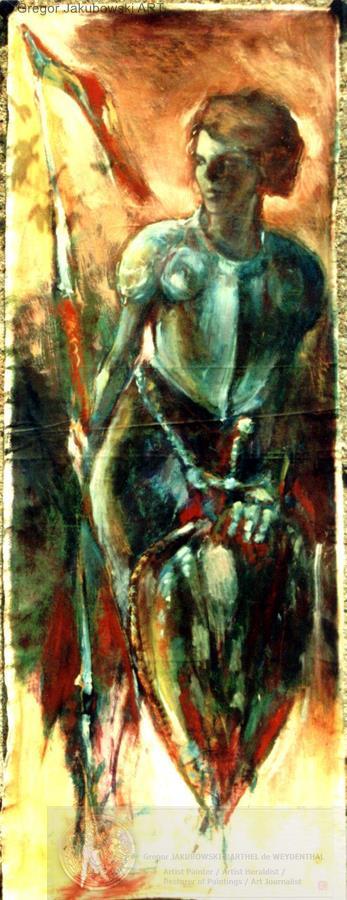 Gregor Jakubowski,Jeanne_d'Arc_III, 198X75 cm