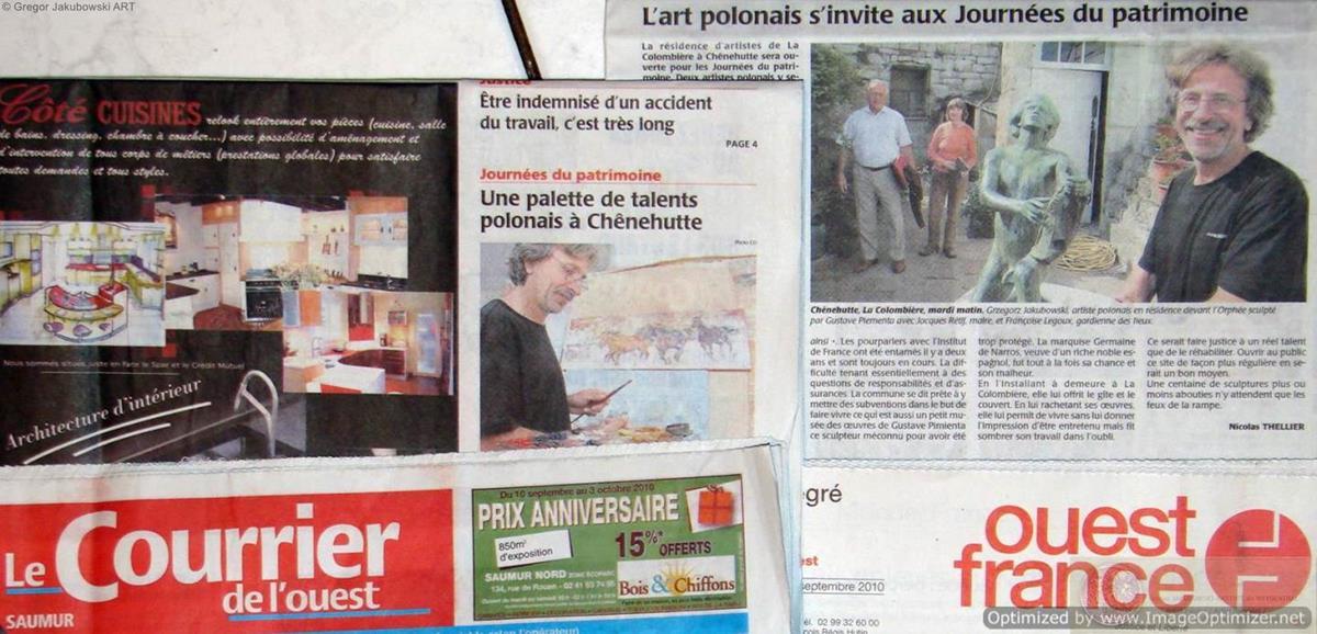 Ewa Maslowska & Gregor Jakubowski, Courrier de l'Ouest. Saumur, IX 2010