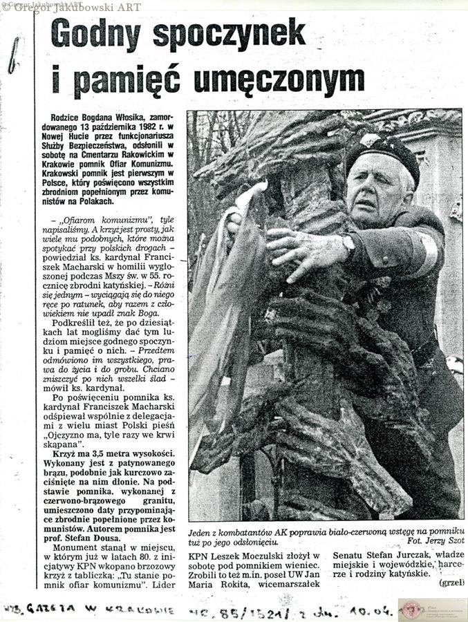 Karol_Jakubowski_pomnik_1995