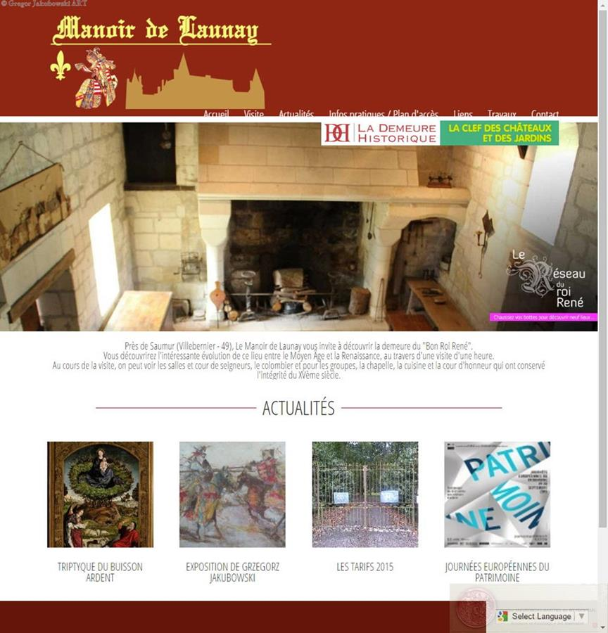 Manoir de Launay website