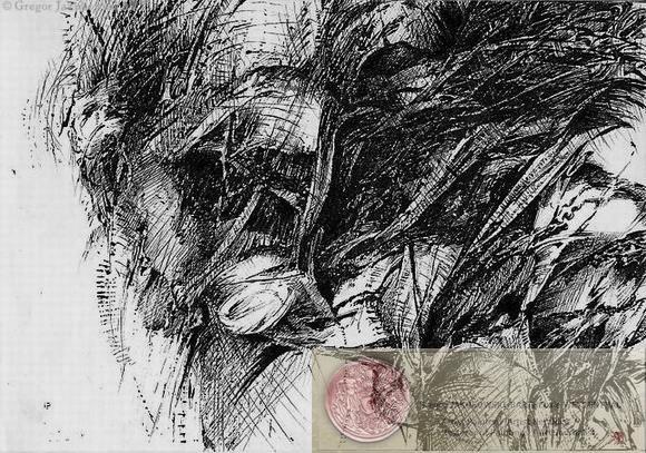 PIEGE II, China ink, 70x100 cm