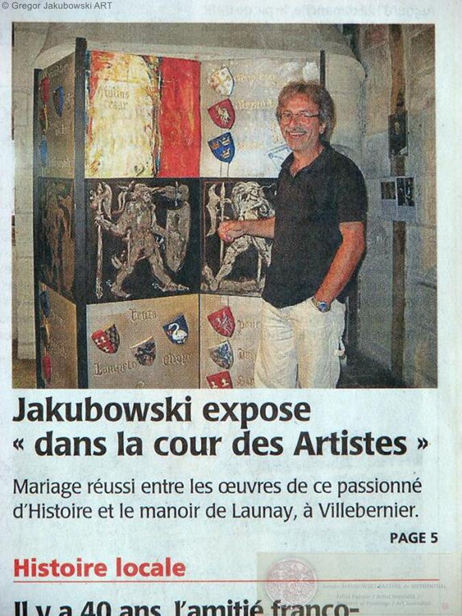Gregor Jakubowski, Dans la Cour du Roi Rene, Manoir de Launay, 2013