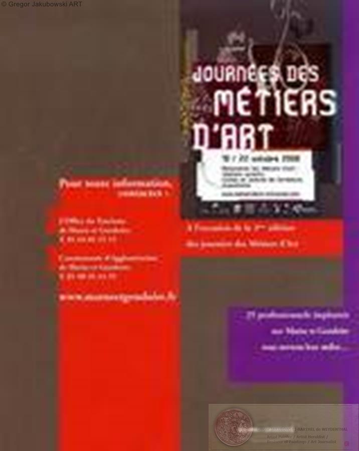 Les Journees des METIERS d'ART, 2006