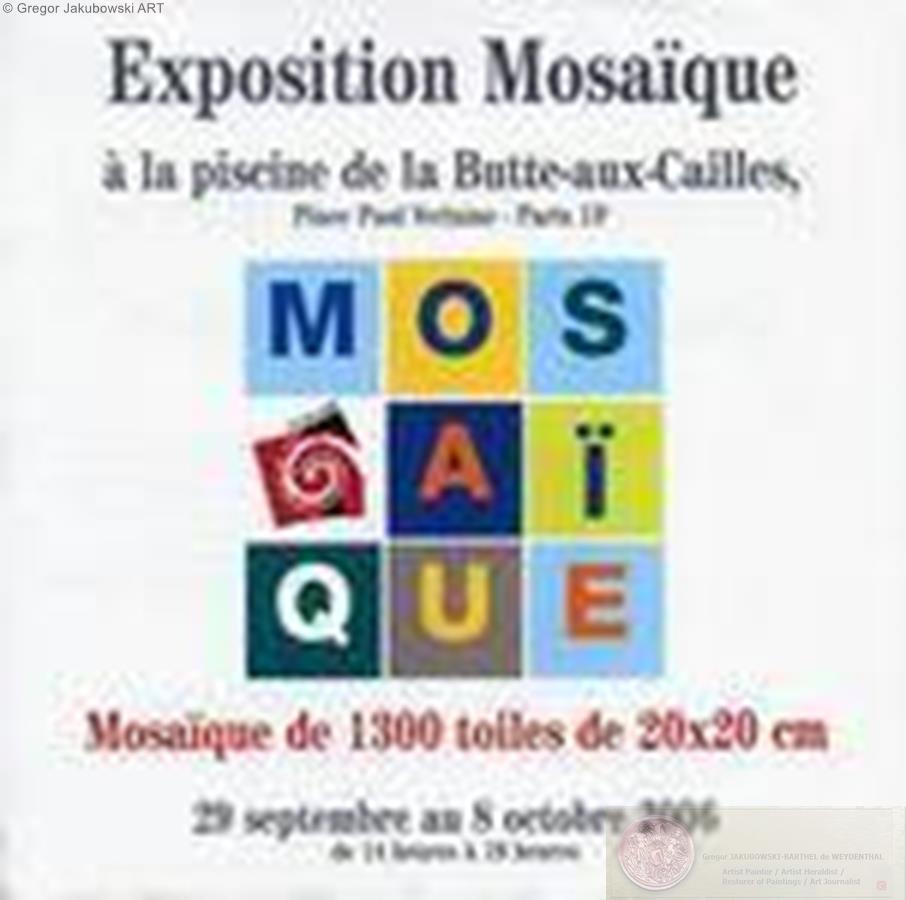 Mosaique 2006, Piscine de la Butte aux Cailles,PARIS