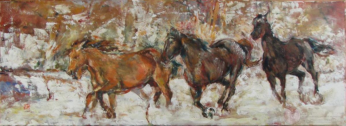 Gregor Jakubowski - Mouvement I 35x100 cm
