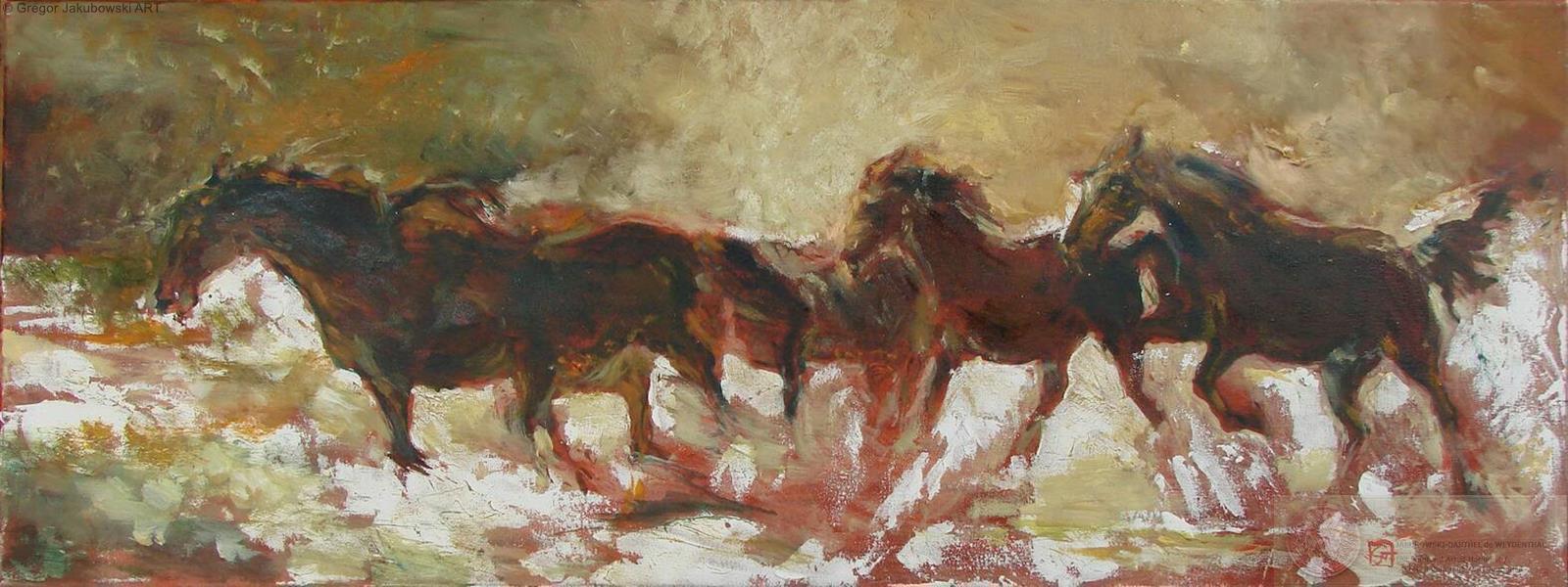 Gregor Jakubowski - Mouvement II 35x100 cm