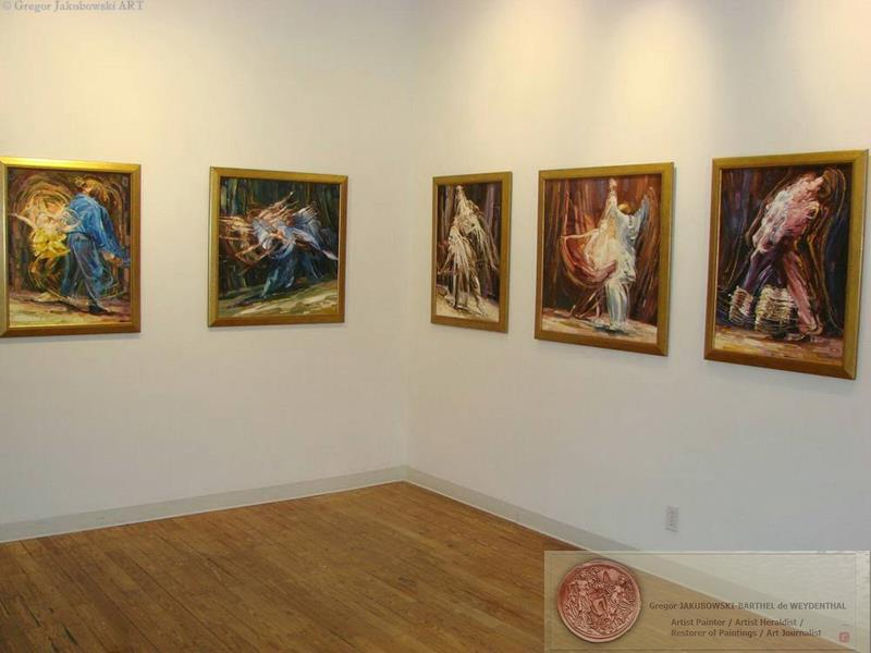 YIN & YANG, Ewa MASLOWSKA & Gregor JAKUBOWSKI, oil paintings September 29 to October 10, 2009