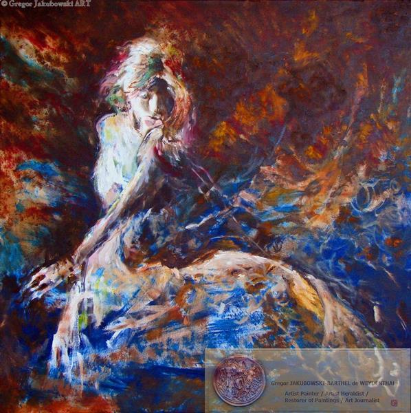 YIN & YANG, Ewa MASLOWSKA & Gregor JAKUBOWSKI, oil paintings, Centauresse, 50x150 cm September 29 to October 10, 2009