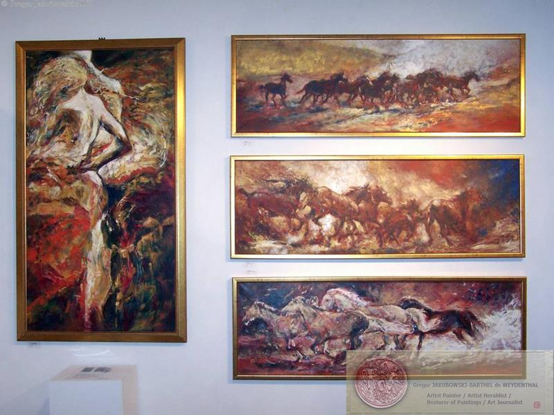YIN & YANG, Ewa MASLOWSKA & Gregor JAKUBOWSKI, oil paintings, Gregor_Jakubowski_Hoofbeats_End-of-Eden September 29 to October 10, 2009