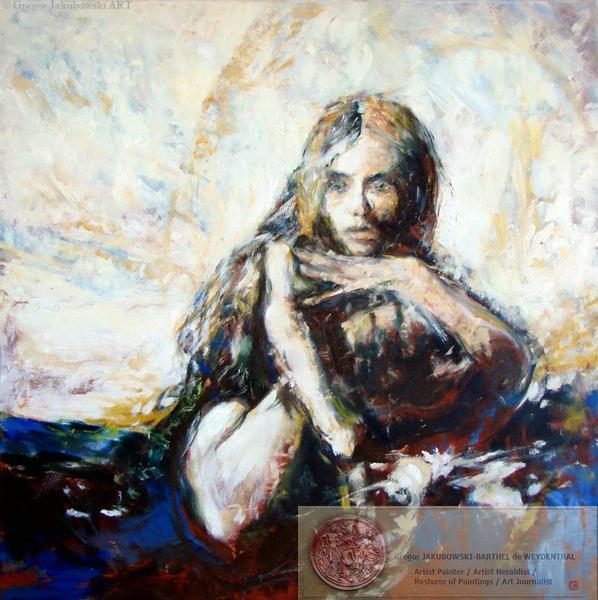 YIN & YANG, Ewa MASLOWSKA & Gregor JAKUBOWSKI, oil paintings, Gregor_Jakubowski_Regard, 50x150 cm September 29 to October 10, 2009