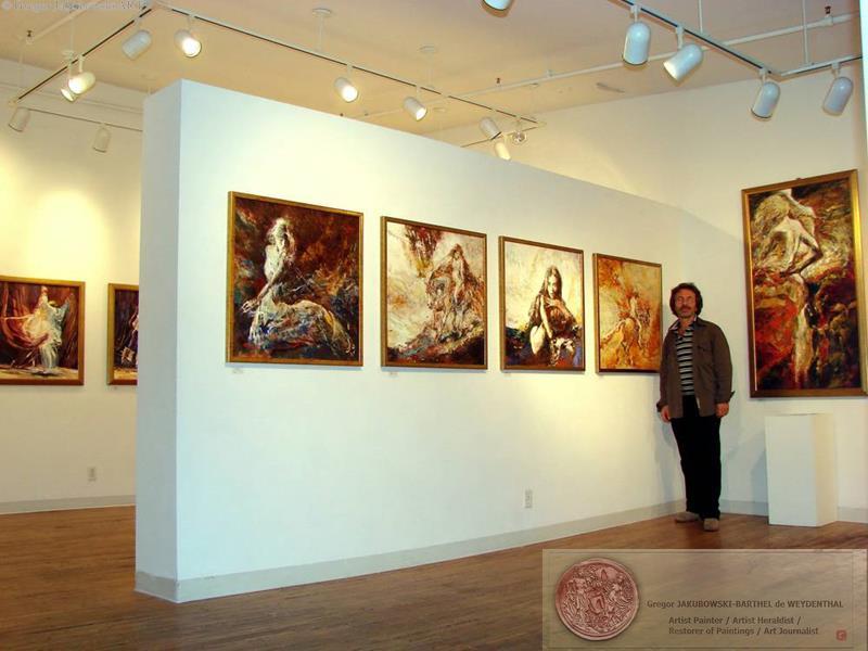 YIN & YANG, Ewa MASLOWSKA & Gregor JAKUBOWSKI, oil paintings, September 29 to October 10, 2009