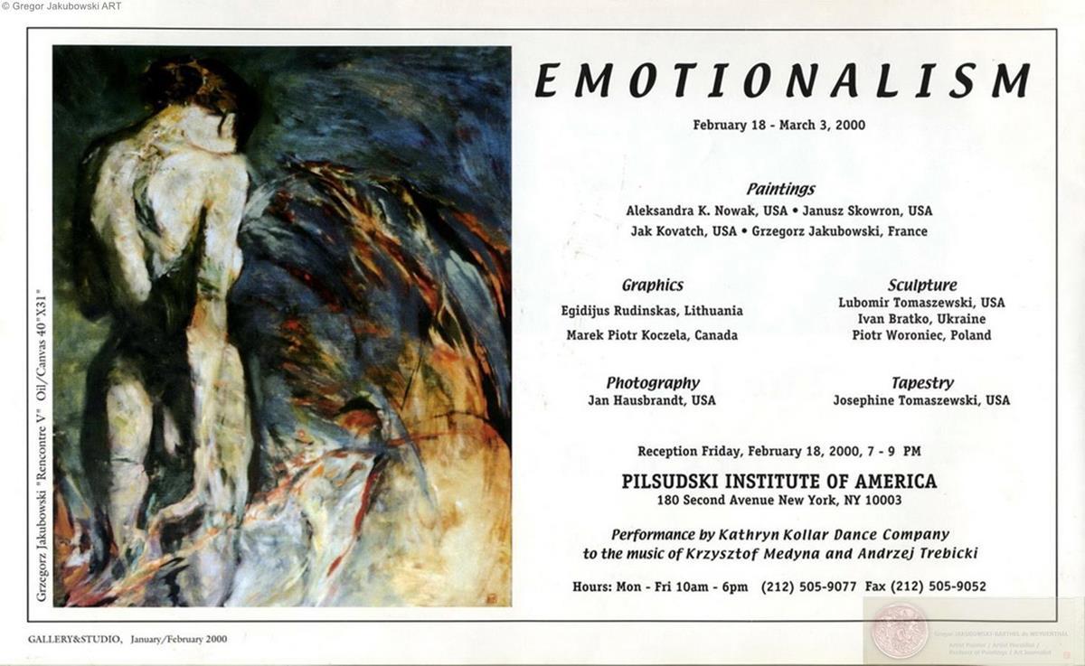POLISH-AMERICAN ART & EMOTIONS, Gallery & Studio, 2000