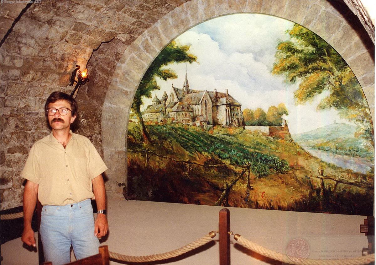 GJ: Abbaye de PASSY, Musee du VIN, PARIS oil painting, 450 x 320 cm (177'' x 126'')