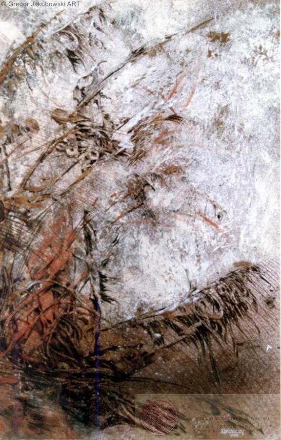 Paysage II, mixed media, 70x50 cm