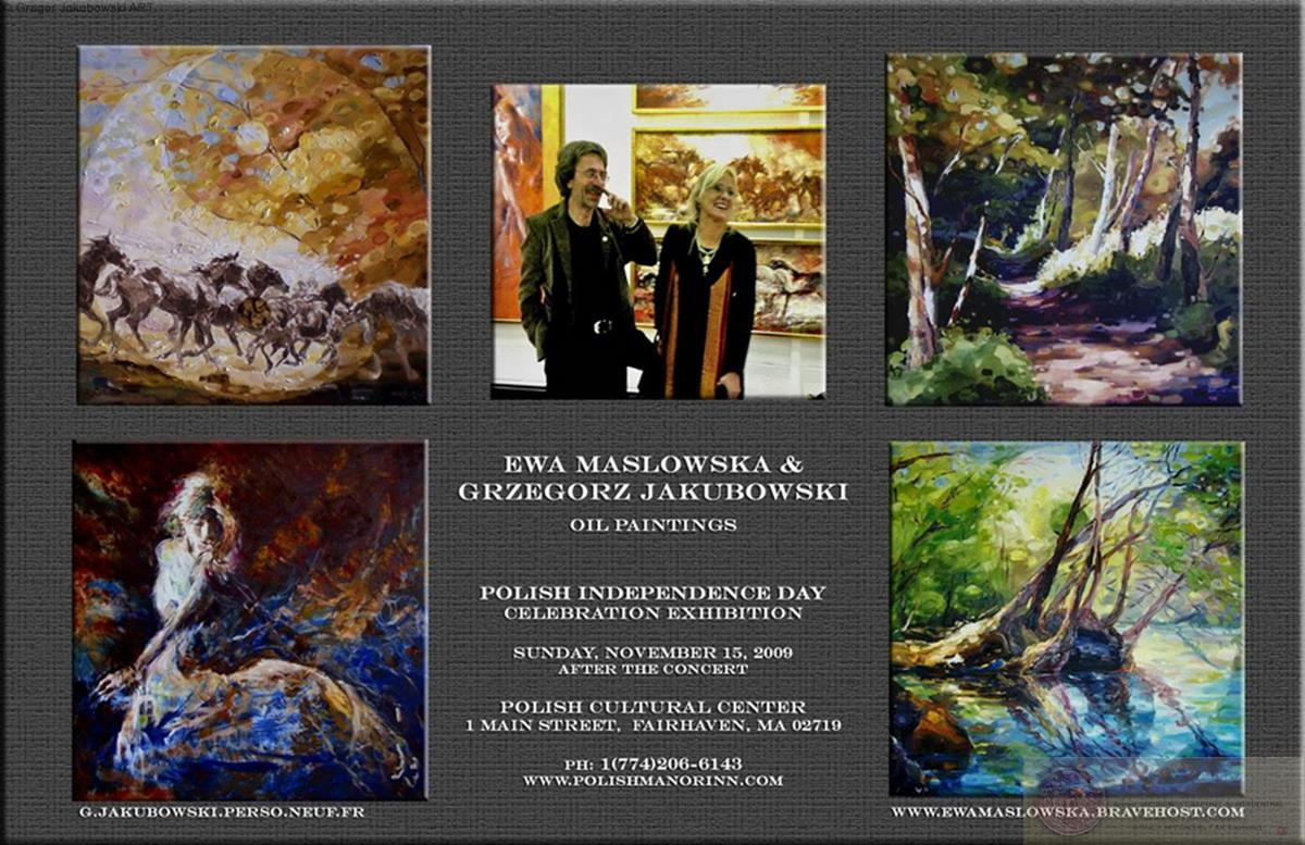 YIN & YANG, Ewa MASLOWSKA & Gregor JAKUBOWSKI, oil paintings PolishManor, Fairhaven,Mass, 15_XI_2009