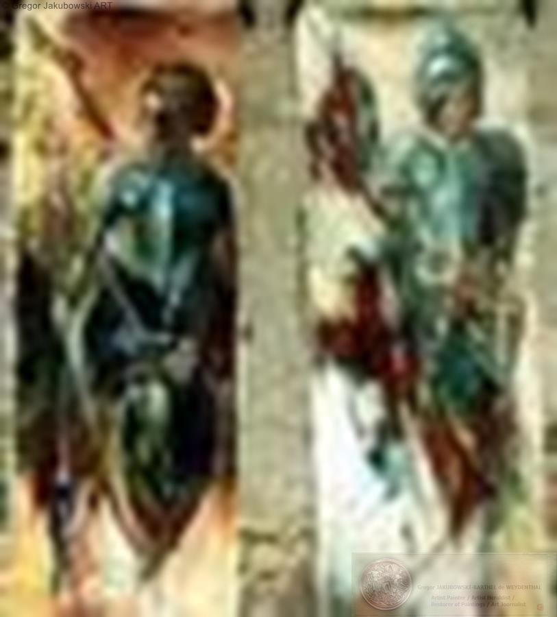 JEANNE II, JEANNE III, 198 x 75 cm (77 x 29)