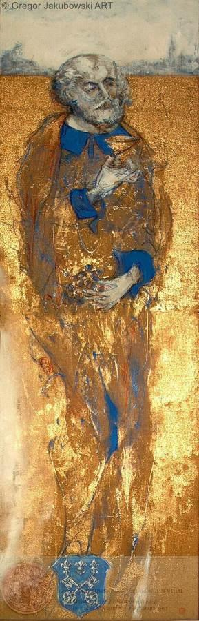 Gregor Jakubowski,Saint-Vincent-de-Saragosse, 260x73 cm