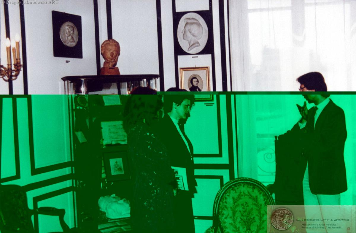 visit of Danuta Walesa & Iwona Bielecka, Bibliotheque Polonaise de Paris, Grzegorz Jakubowski