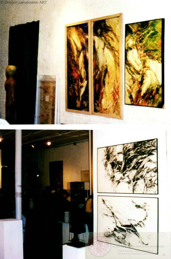 PAINTINGS by Gregor Jakubowski - New York, Soho, Ward-Nasse Gallery; Adam Said, Eve Said & Out of Line exhibitions)