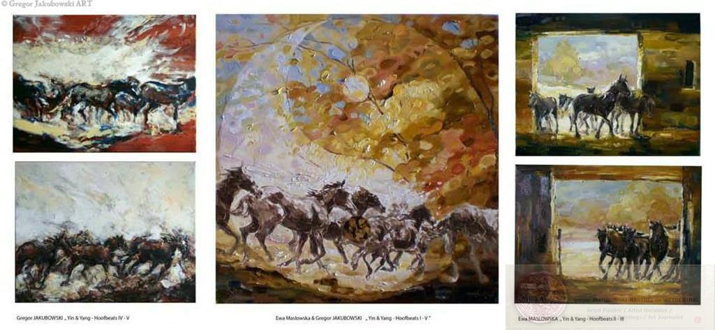 YIN & YANG horses : HOOFBEATS I - V; Ewa Maslowska & Gregor Jakubowski