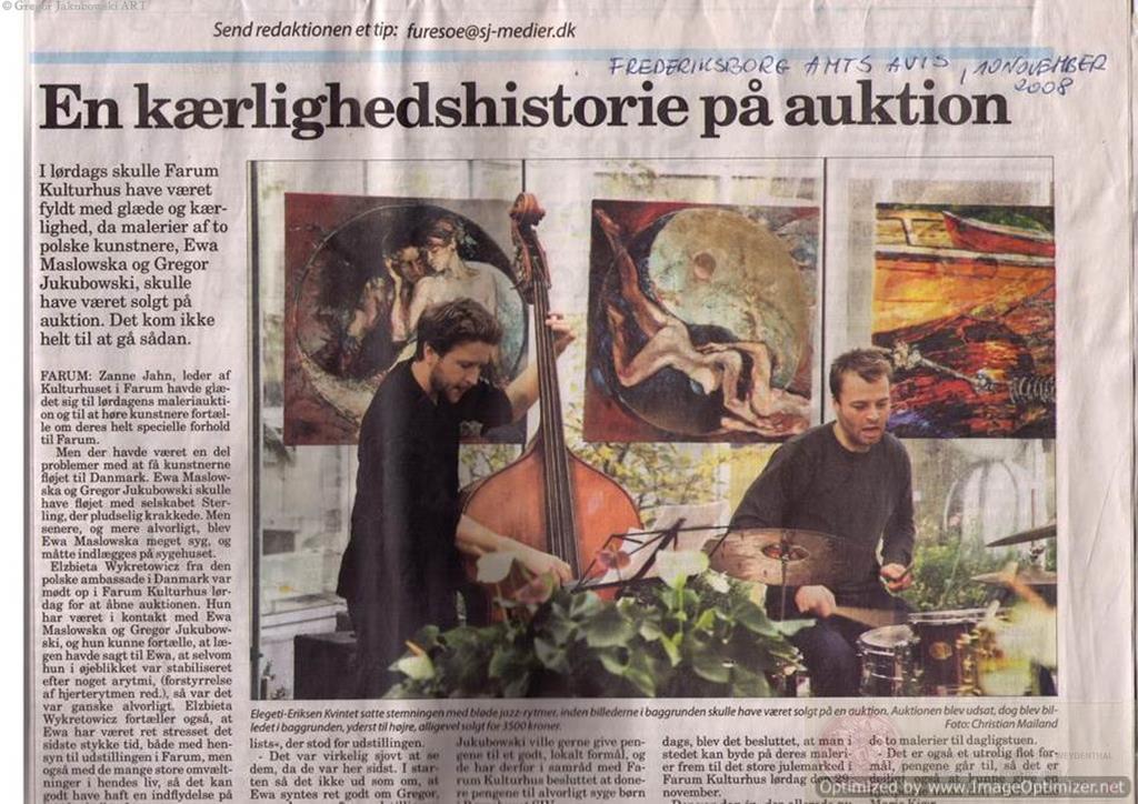 YIN & YANG Exhibition and Auction, Ewa MASLOWSKA & Gregor JAKUBOWSKI FARUM Kulturhus, DENMARK, november 2008, Emotionalist Movement
