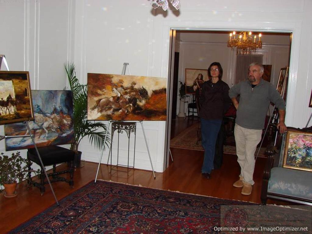 YIN & YANG, Ewa MASLOWSKA & Gregor JAKUBOWSKI, oil paintings PolishManor, Fairhaven, Mass, 15_XI_2009