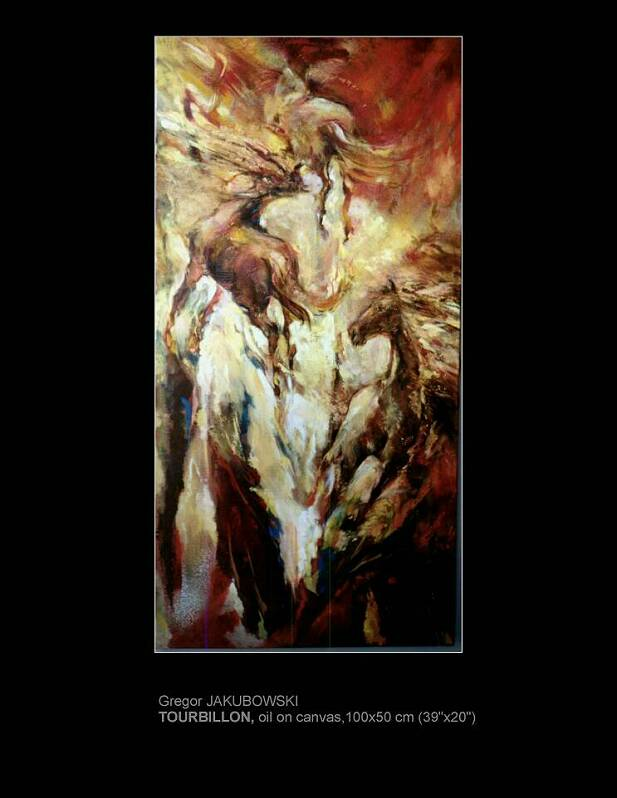 Gregor Jakubowski, TOURBILLON, 100x20 cm